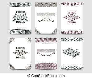 Native american style borders cards