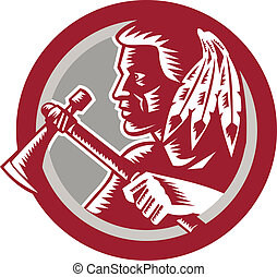 Native American Tomahawk Warrior Circle