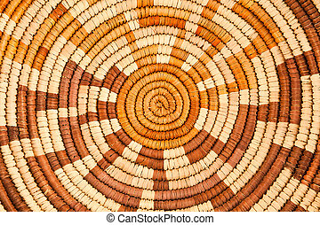 Native American Woven Background Pattern - Colorful Native...
