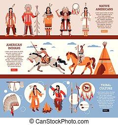 Native Americans Horizontal Banners