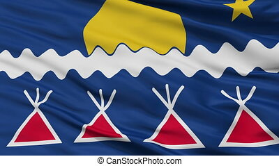 Native Americans Tribe Indian Flag Closeup Seamless Loop -...