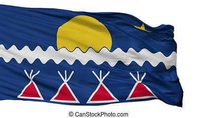 Native Americans Tribe Indian Flag Isolated Seamless Loop -...