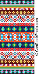 Native Aztec Pattern - Vector background with abstract...
