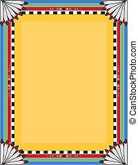 Native Border - A border or frame with a Native American...