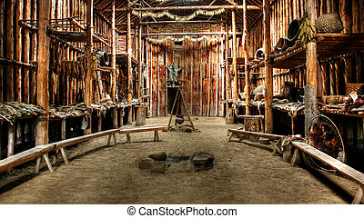 Native Indian Hut - Native Indian ceremonial hut in Lake...