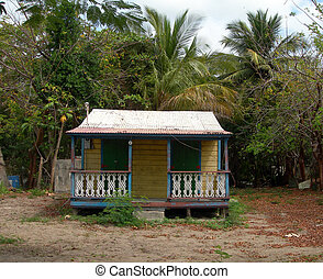 native island home in need of repair with tin roof Vieques, Puerto Rico