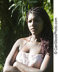 native Nicaragua woman Corn Island portrait - portrait...