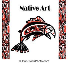 native salmon Vector