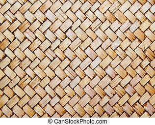 Native Thai style bamboo wall