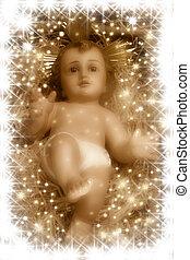 natividad, bebé, escena, jesús