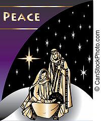 natividad, tarjeta de navidad, 2