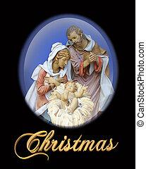 natividade, cena natal, religiosas