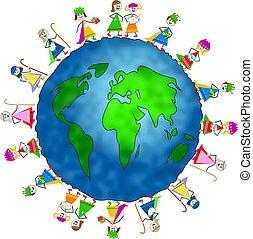 natividade, global, crianças