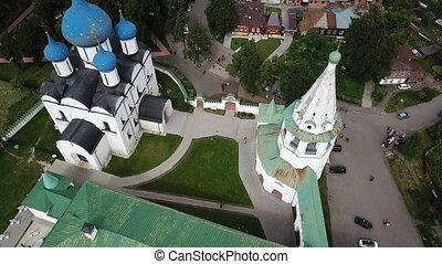 nativité, architectural, cathédrale, suzdal, ensemble, russe, ville, kremlin