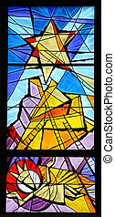 nativity, ガラス, 現場, 汚された