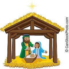 nativity, クリスマス, 漫画, 現場