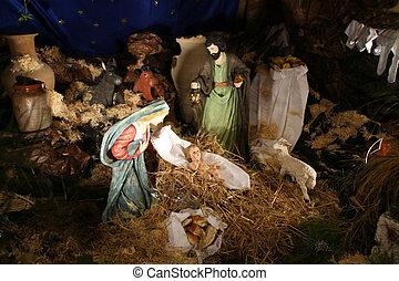 nativity 場面, 奇跡, cana-church