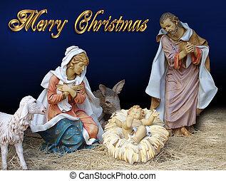 nativity, 宗教, クリスマス