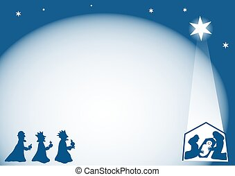 Nativity Border - Nativity background border design. Useful...