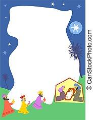 Nativity Border - Christmas nativity page frame
