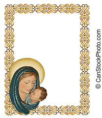 Nativity Christmas border - Image and illustration...