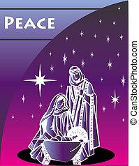 Nativity Christmas Card 1