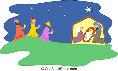 Nativity - Christmas nativity scene.