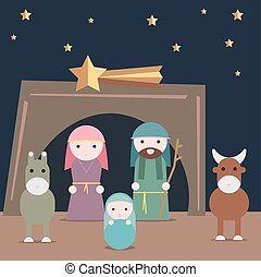Nativity illustration
