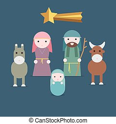 Nativity illustration - Nativity vector illustration