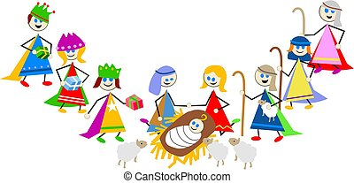 nativity kids - kids Christmas nativity play