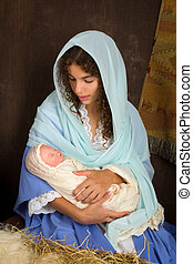 nativity, mary, クリスマス場面