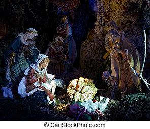 Nativity Night Scene