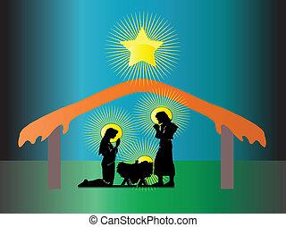 Nativity of Jesus in Christmas
