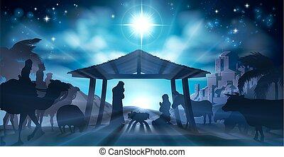nativity scena, boże narodzenie