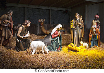 nativity, scene.