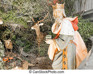 Nativity scene before christmas