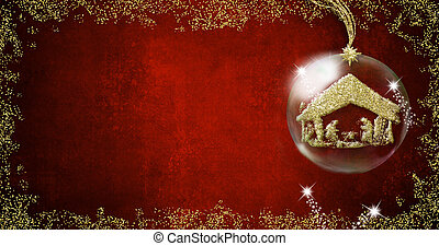 Nativity Scene Christmas backgrounds cards. - Background for...