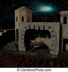 Nativity scene  - 3D Render
