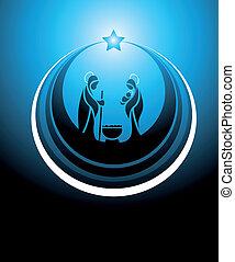 nativity scene icon - Icon depicting the nativity scene in...