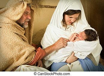 Nativity scene live