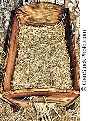 Nativity Scene - traditional old the nativity