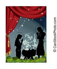 nativity scene vector
