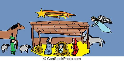 nativity, scenes., クリスマス