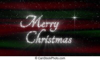Nativity sTar Merry Christmas Loop