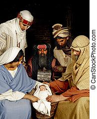 Nativity with wisemen