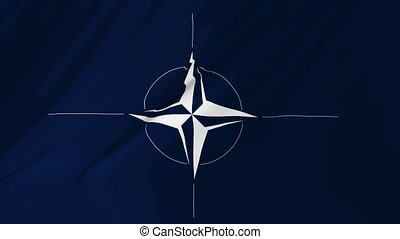 NATO flag animation 2 in 1 - NATO Flag computer graphic...