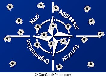 NATO flag - Illustration NATO flag as a symbol of global...