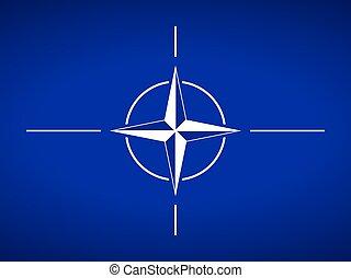 NATO flag. - Flag of North Atlantic Treaty Organization.
