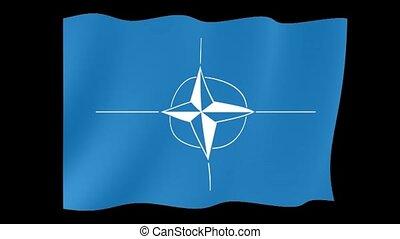 Nato flag. Waving