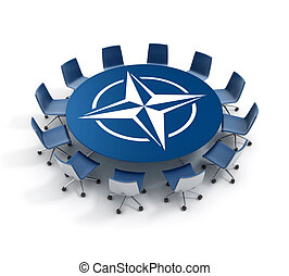 Nato meeting 3d concept - 3d illustration of Nato meeting...